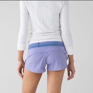 Lululemon Speed Shorts 4 way Stretch Wave Lilac